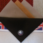 Brown and Black Hankie With Black Flap and Pin